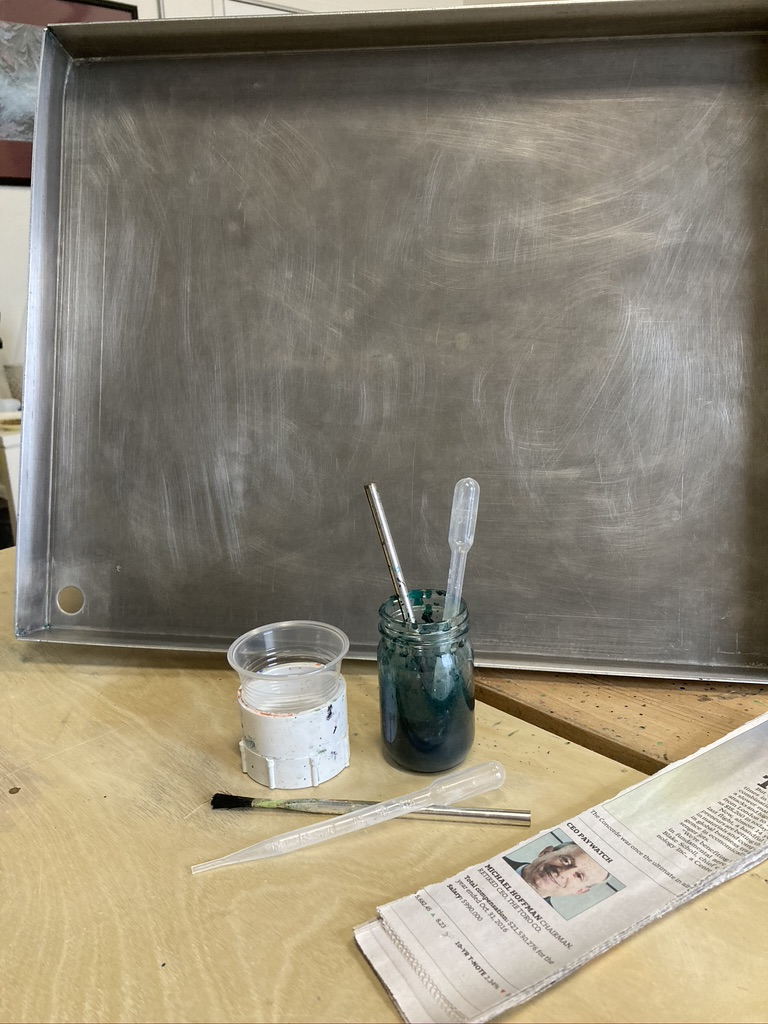 Setting Up Marbling Space